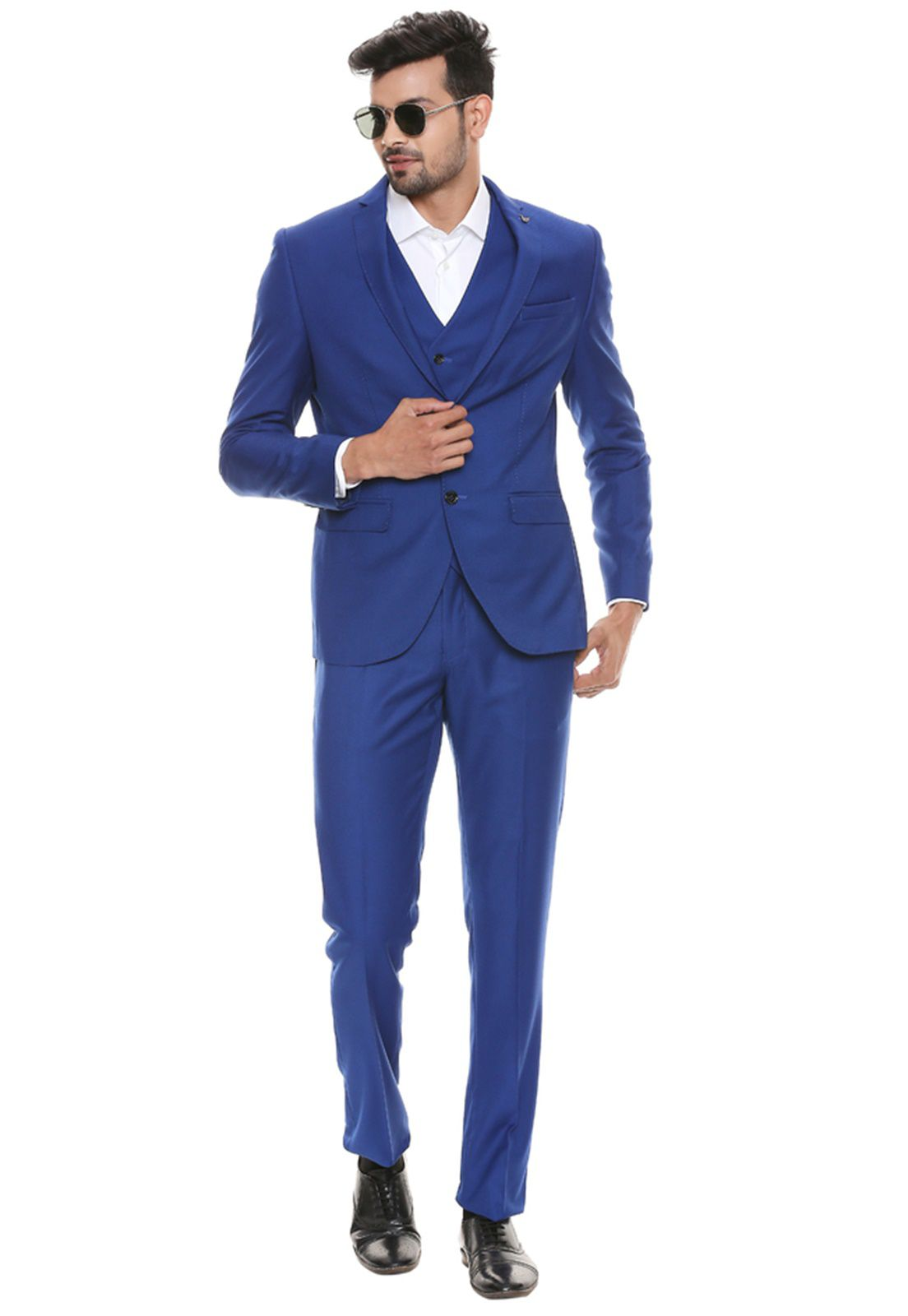 Terno Slim Masculino Oxford Azul Royal Jordhan