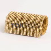 Atacado - Manta Strass SS10 - Dourado Boreal - 120cm X 45cm