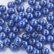 Pérola Redonda Abs 4mm - Azul Royal - 250g