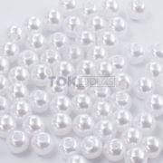 Pérola Redonda Abs 4mm - Branco - 250g