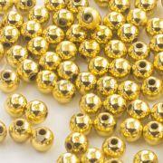 Atacado - Pérola Redonda Abs 3mm - Dourado - 250g