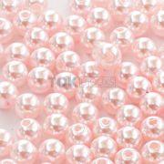 Atacado - Pérola Redonda ABS 3mm - Rosa Bebe - 250g