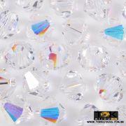 Balão Swarovki / Preciosa - 6mm - Cristal Ab Irisado - 20 UN
