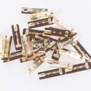 Base De Broche Retangular - Dourado - 10X36mm - 25  Unid