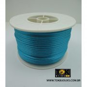 Cordão De Seda Acetinado - Rolo 50 Metros - Azul Turquesa