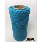 Cordão Encerado Algodão - 1,5mm - Azul Turquesa - 100 Metros
