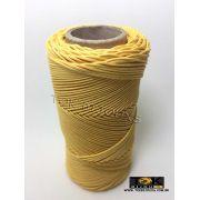 Cordão Encerado Algodão - 1mm - Amarelo Ouro