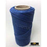 Cordão Encerado Algodão - 1mm - Azul Royal - 100 Metros