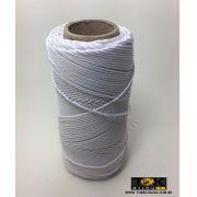 Cordão Encerado Algodão - 1mm - Branco - 100 Metros
