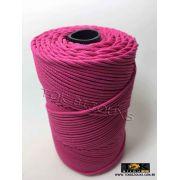 Cordão Encerado Algodão - 1mm - Rosa Médio - 100 Metros