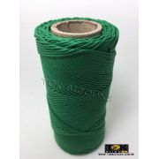 Cordão Encerado Algodão - 1mm - Verde Bandeira - 100 Metros