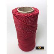 Cordão Encerado Algodão - 1mm - Vermelho
