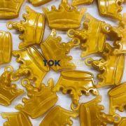 Coroa Acrilico - Dourado -  Unidade