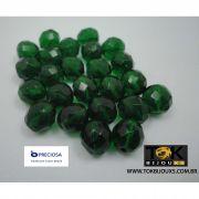 Cristal Facetado 10mm - 600  Unid - Verde Escuro Transparente