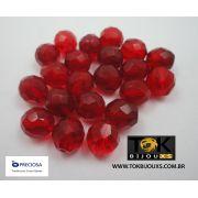 Cristal Jablonex/Preciosa® - Vermelho Transparente 10mm - 25  Unid