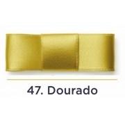 Fita Cetim N.0 - 3mm - COR (47) Dourado - Rolo 100 Metros