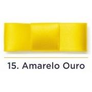 Fita Cetim N.1 - 7mm - 100 Metros - COR (15) Amarelo Ouro