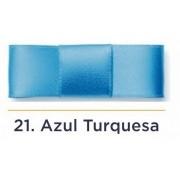 Fita Cetim N.1 - 7mm - 100 Metros - COR (21) Azul Turquesa
