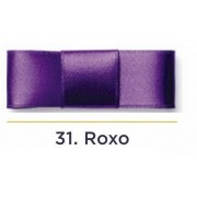 Fita Cetim N.1 - 7mm - 100 Metros - COR (31) Roxo