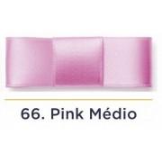 Fita Cetim N.1 - 7mm - 100 Metros - COR (66) Pink Médio