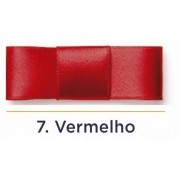 Fita Cetim N.1 - 7mm - 100 Metros - COR (7) Vermelho