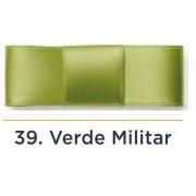 Fita Cetim N.2 - 10mm - 50 Metros - COR (39) Verde Militar