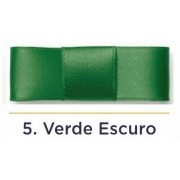 Fita Cetim N.2 - 10mm - 50 Metros - COR (5) Verde Escuro