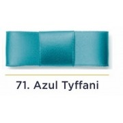 Fita Cetim N.2 - 10mm - 50 Metros - COR (71) Azul Tyffani