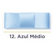 Fita Cetim N.3 - 15mm - 50 Metros - COR (12) Azul Médio