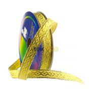 Fita Metalizada - Ordem 6854 - 10mm - 10 Metros - Dourado