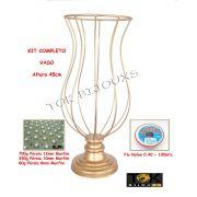 Kit Montagem - Vaso 45cm Vaso Pedraria - Pérolas