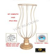 Kit Montagem - Vaso 60cm Vaso Pedraria - Acrílicos
