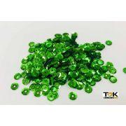 Lantejoula 6mm - Verde Bandeira - 250g