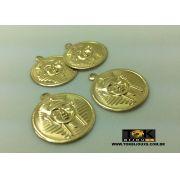 Medalha Grande Faraó - 25mm - Dourado - 500 Unid