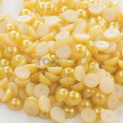 Meia Pérola Abs - 10mm - Ouro Claro - 25g