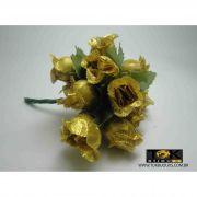 Mini Rosas - Dourado - Pct C/ 144Un