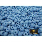 Missangão Azul Celeste Opaco 6/0 - 50g