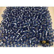 Missangão Azul Médio Transparente 6/0 - 500g