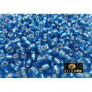 Missangão Azul Turquesa Transparente 6/0 - 50g