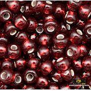 Missangão Jablonex - Vermelho Transparente - 500g