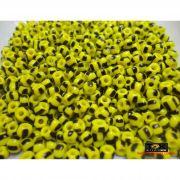 Missangão Rajado Amarelo / Preto - 500g