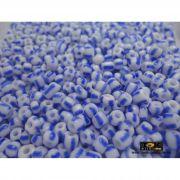 Missangão Rajado Branco / Azul - 500g