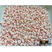 Missangão Rajado Branco / Vermelho - 50g