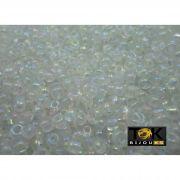 Missangão Transparente Irisado 6/0 - 50g