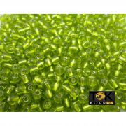 Missangão Verde Limão Transparente 6/0 - 50g