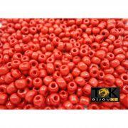 Missangão Vermelho Opaco 6/0 - 50g