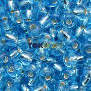 Missanguinha Jablonex - Azul Turquesa Transparente - 25g