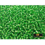Missanguinha Verde Bandeira Transparente 10/0 - 50g