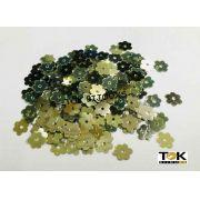 Paetê Flor 6mm - Dourado / Prata - 250g