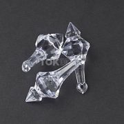 Ponteira Acrílica - Transparente - 45X15mm - Unidade